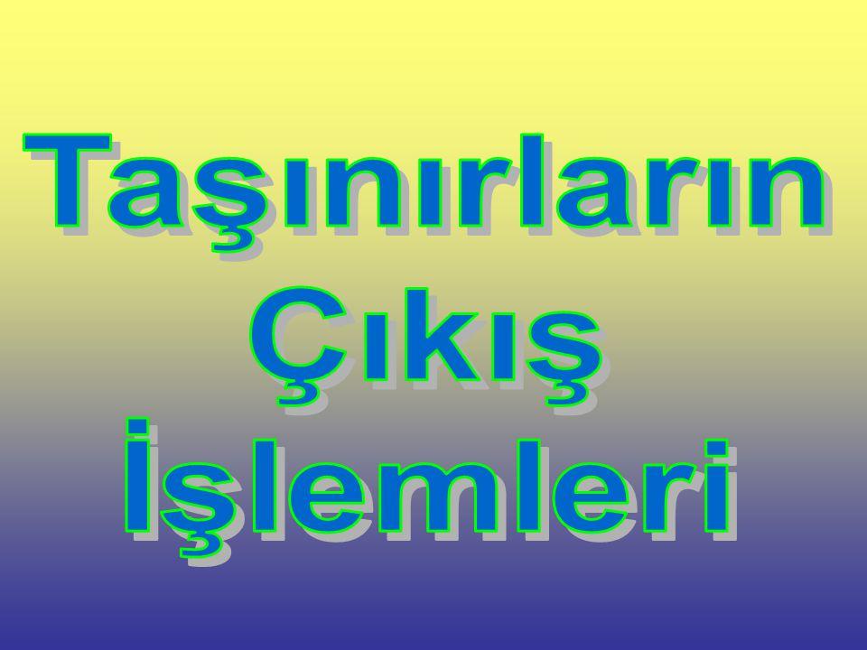  150-İLK MADDE VE MALZEMELER ÇIKIŞLARINDA DÜZENLENEN T.İ.F.