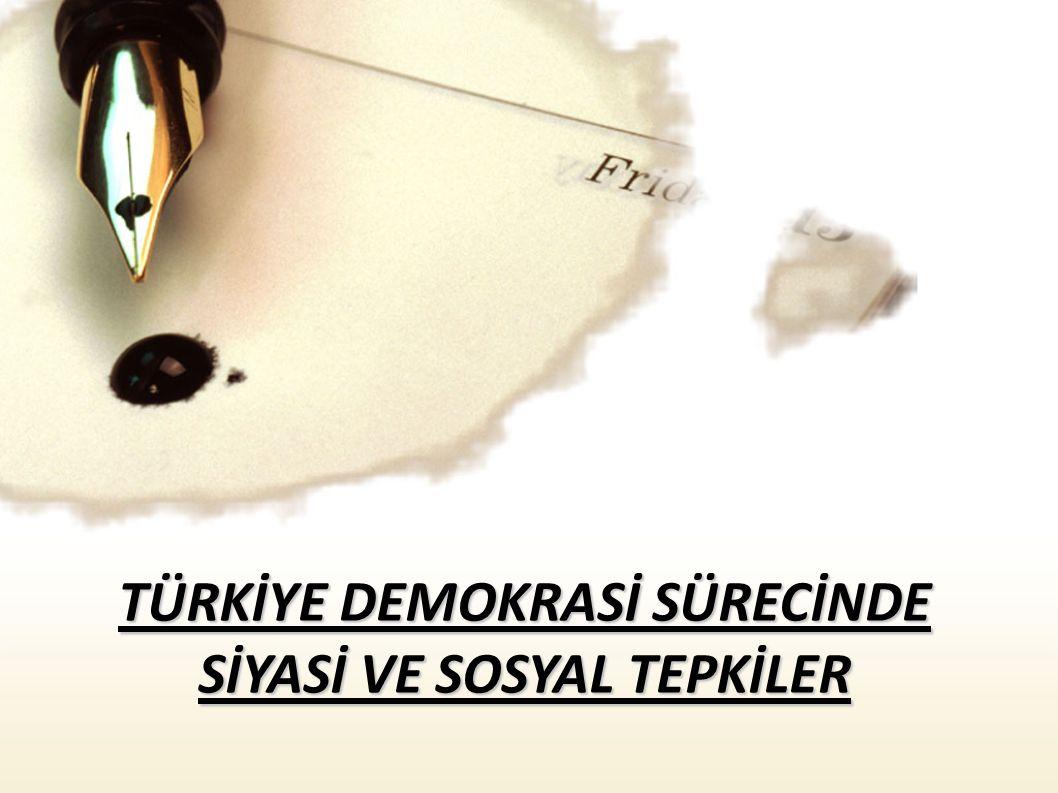 Katılım açısından en büyük tepki olma özelliği taşıyan ve tüm Türkiye de ortaya çıkan ve bir süreç halinde devam eden Cumhuriyet Mitingleridir...