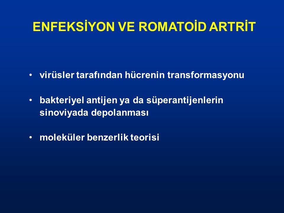 EKSTRA-ARTİKÜLER TUTULUM BULGULARI-I Kalp perikardit, prematür ateroskleroz, vaskülit, kapakta ve kapak çevresinde nodüller, nadiren endokardit, myokardit Akciğer plevral efüzyon, interstisiyel akciğer hastalığı, obliteratif bronşiolit, romatoid nodüller, vaskülit, Kaplan sendromu Deri atrofi, raynauld fenomeni, ödem, nodüller, frajilite, vaskülit Nörolojik sistem tuzak nöropatileri, servikal myelopati, mononöritis multipleks (vaskülit), periferal nöropati, ilaçlara bağlı etkiler