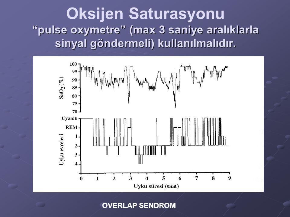 """""""pulse oxymetre"""" (max 3 saniye aralıklarla sinyal göndermeli) kullanılmalıdır. Oksijen Saturasyonu """"pulse oxymetre"""" (max 3 saniye aralıklarla sinyal g"""