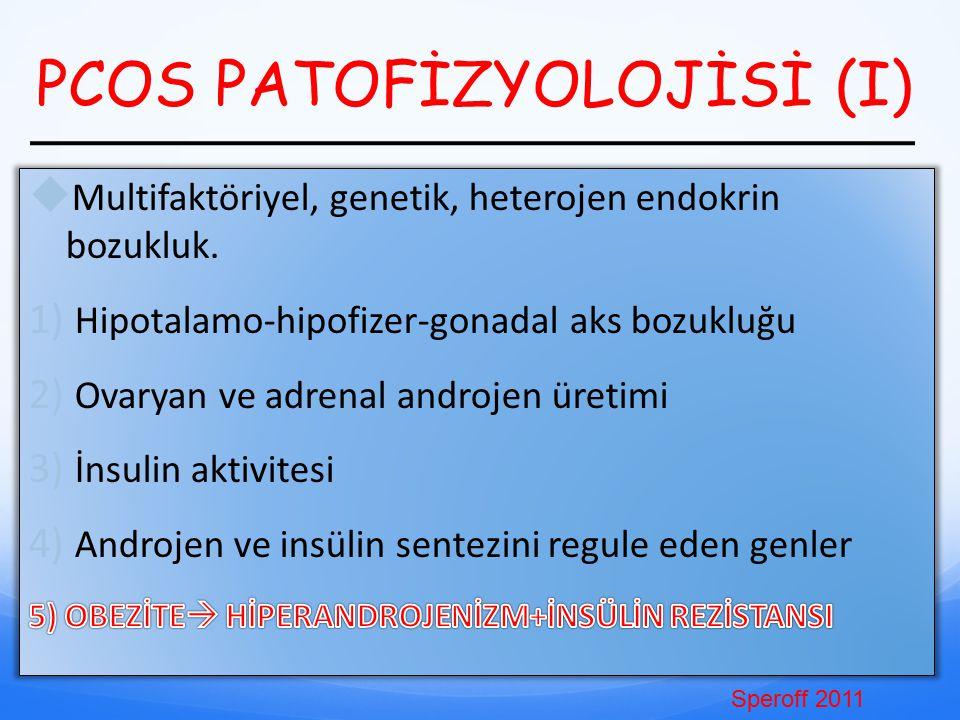 PCOS PATOFİZYOLOJİSİ (I) Speroff 2011