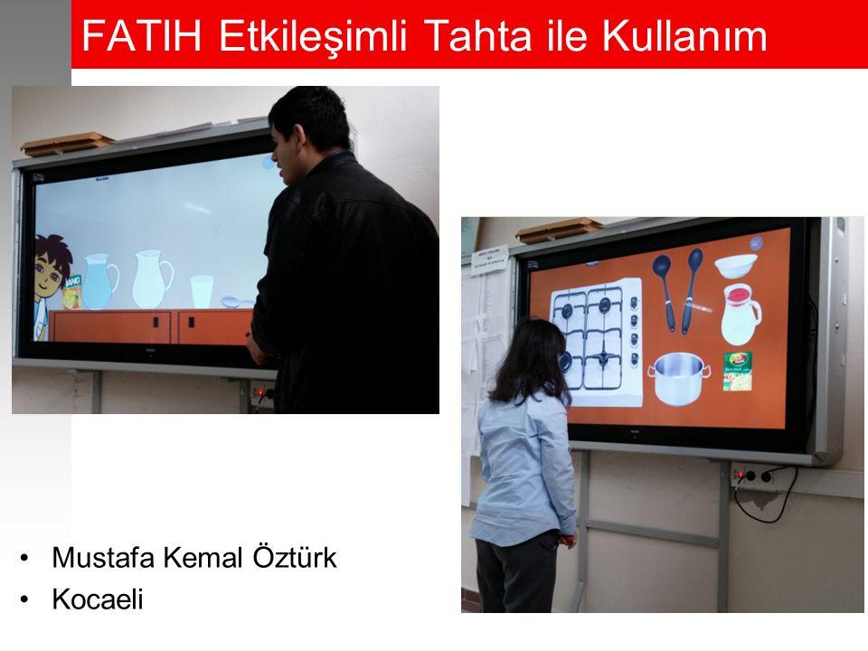 FATIH Etkileşimli Tahta ile Kullanım Mustafa Kemal Öztürk Kocaeli