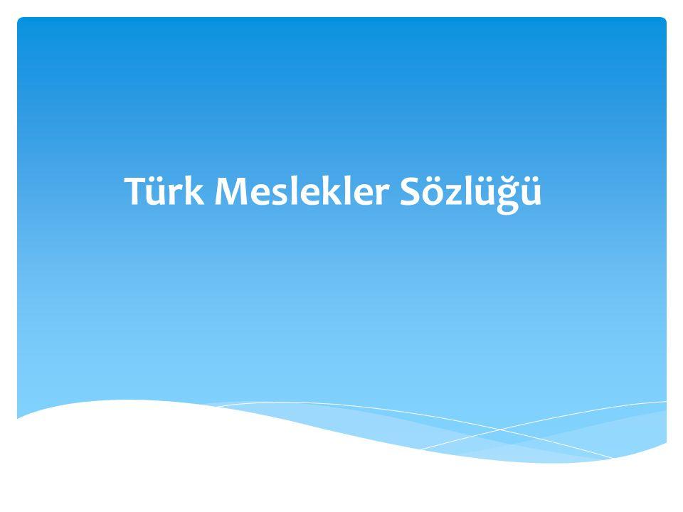 Türk Meslekler Sözlüğü