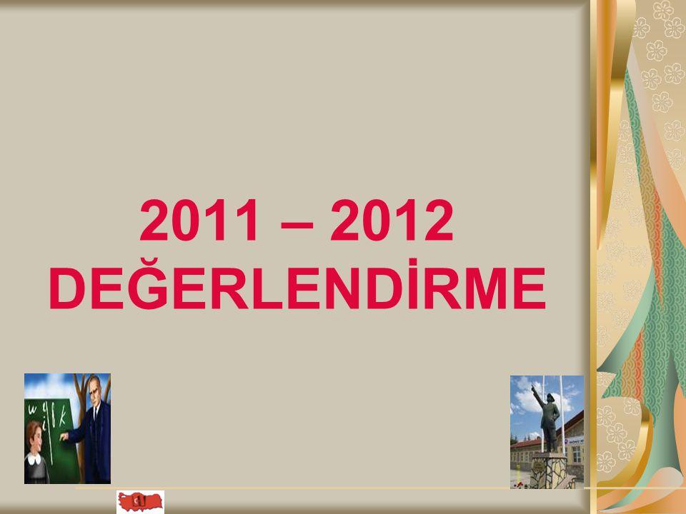 09.04.2015 2011 – 2012 DEĞERLENDİRME