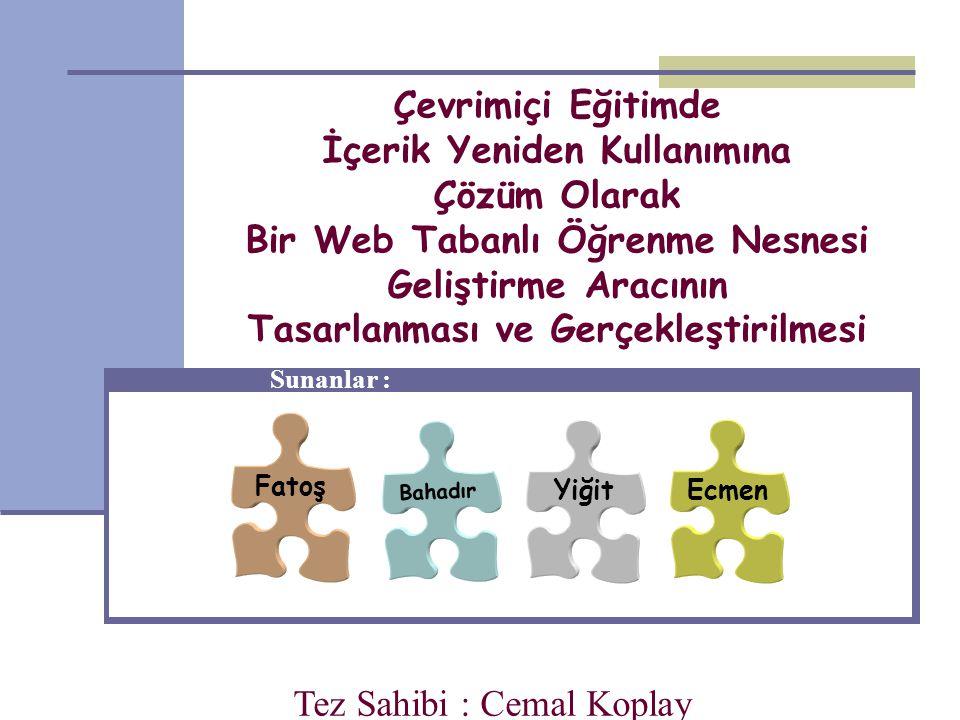 Öğrenme nesnesi düzenleyici temel mimarisi Ecmen