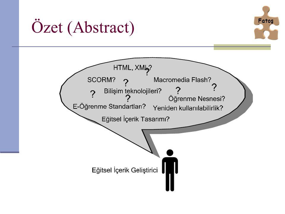 NETg Öğrenme Nesnesi Modeli Bu yapıda bir ders birbirinden bağımsız üniteler içerir.