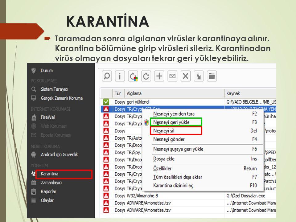 Malware Spyware Temizleme  Malware:….. Spyware:…..