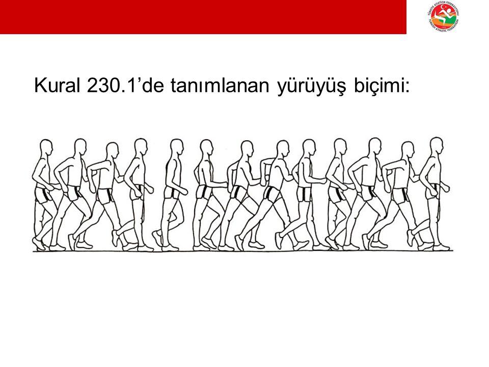 Kural 230.1'de tanımlanan yürüyüş biçimi: YÜRÜYÜŞ SEMİNERİ Ayvalık, 18 Nisan 2013