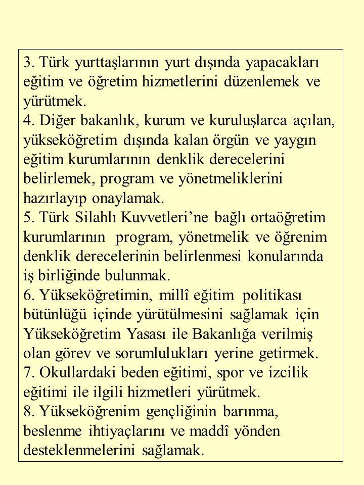 179 Sayılı Kanun Hükmünde kararnameye göre Milli Eğitim Gençlik ve Spor Bakanlığı'ndaki sürekli kurullar şunlardır.