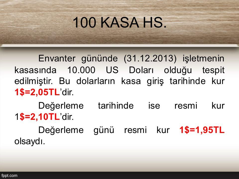 100 KASA HS.