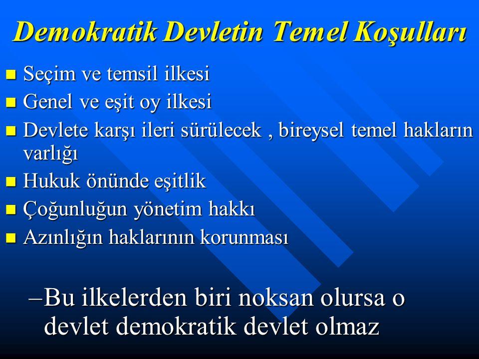 Demokrasi ve Demokratik Eğitim Demokrasi; Egemenliğin bir hak olarak kabul edilip, doğrudan ya da özgür bir iradeyle seçilmiş temsilciler aracılığıyla