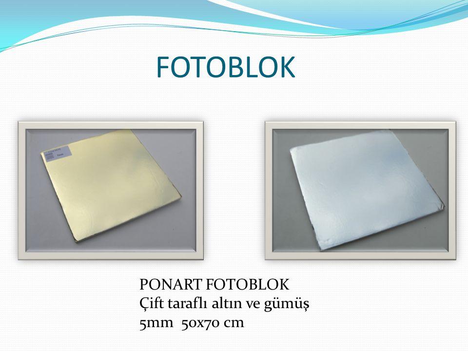 FOTOBLOK PONART FOTOBLOK Çift taraflı altın ve gümüş 5mm 50x70 cm