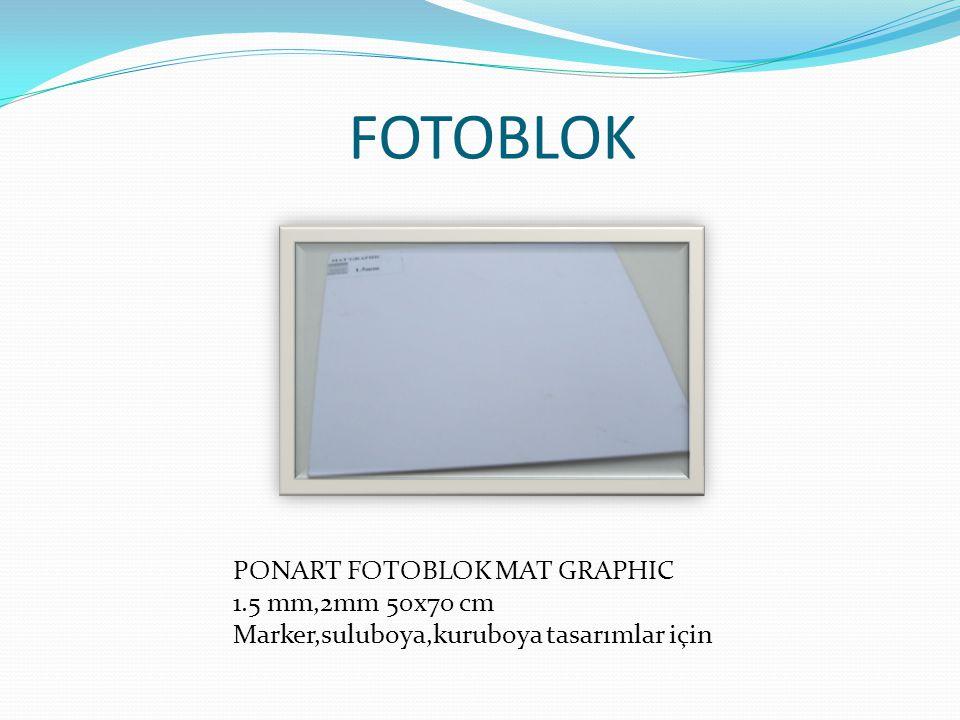 FOTOBLOK PONART FOTOBLOK MAT GRAPHIC 1.5 mm,2mm 50x70 cm Marker,suluboya,kuruboya tasarımlar için