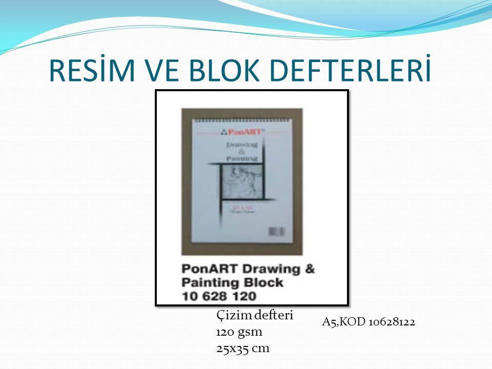 RESİM VE BLOK DEFTERLERİ Çizim defteri 120 gsm 25x35 cm A5,KOD 10628122