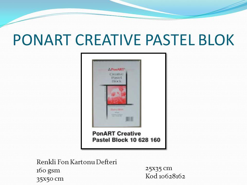 PONART CREATIVE PASTEL BLOK Renkli Fon Kartonu Defteri 160 gsm 35x50 cm 25x35 cm Kod 10628162