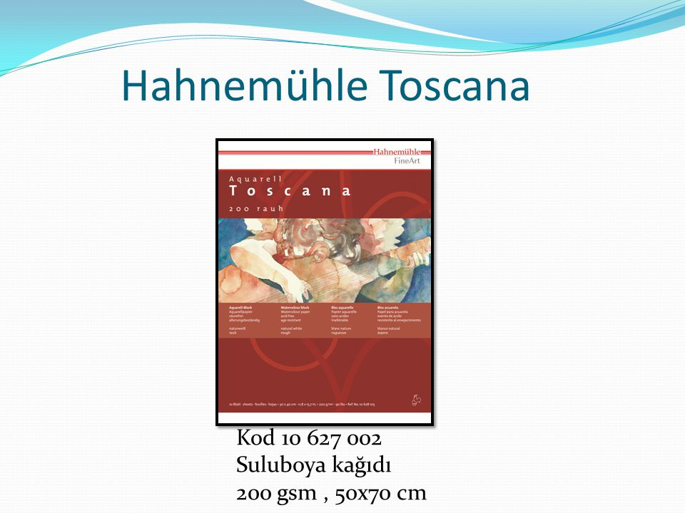 Hahnemühle Toscana Kod 10 627 002 Suluboya kağıdı 200 gsm, 50x70 cm
