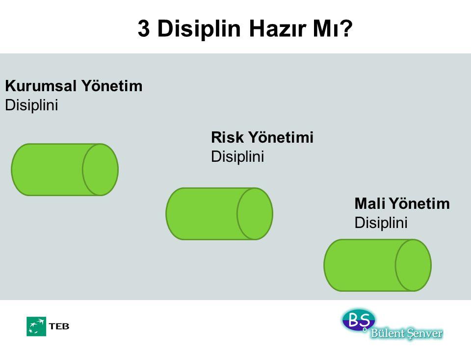 3 Disiplin Hazır Mı? Mali Yönetim Disiplini Kurumsal Yönetim Disiplini Risk Yönetimi Disiplini