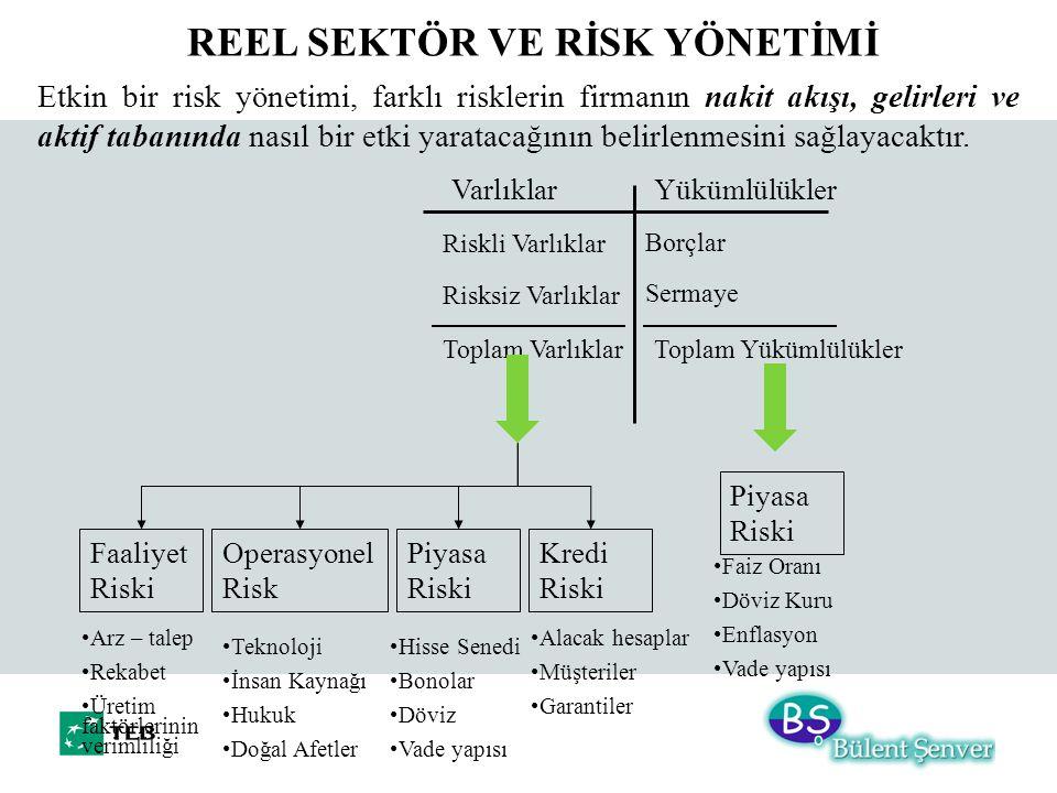 VarlıklarYükümlülükler Riskli Varlıklar Risksiz Varlıklar Toplam Varlıklar Borçlar Sermaye Toplam Yükümlülükler Faaliyet Riski Operasyonel Risk Piyasa