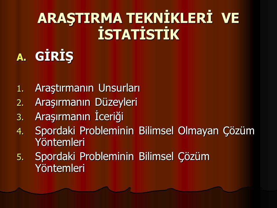 C.ARAŞTIRMA YÜRÜTÜLMESİNİN ÖZET ŞEKLİ 1. PROBLEM5.