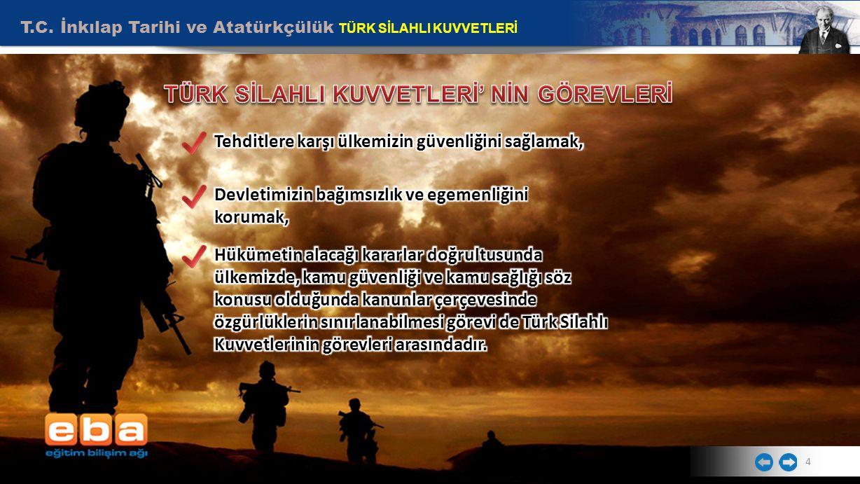 T.C. İnkılap Tarihi ve Atatürkçülük TÜRK SİLAHLI KUVVETLERİ 4
