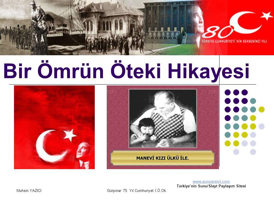 Muhsin YAZICIGürpınar 75. Yıl Cumhuriyet İ.Ö.Ok. Bir Ömrün Öteki Hikayesi www.sunuarsivi.com Türkiye'nin Sunu/Slayt Paylaşım Sitesi