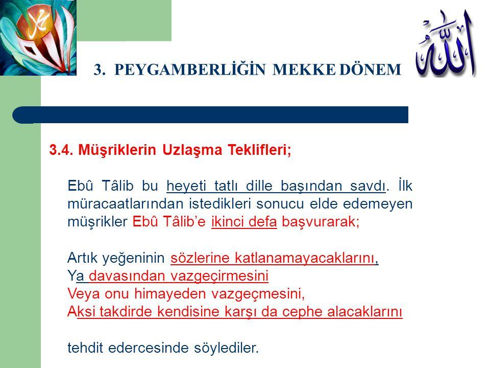 3.PEYGAMBERLİĞİN MEKKE DÖNEMİ 3.4.