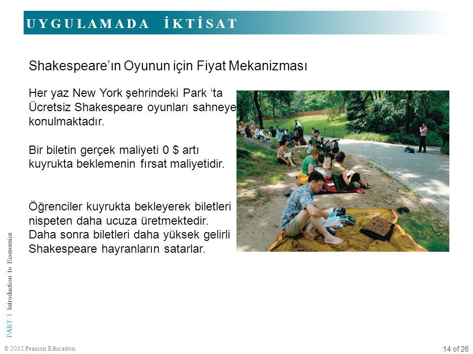 14 of 26 PART I Introduction to Economics © 2012 Pearson Education Her yaz New York şehrindeki Park 'ta Ücretsiz Shakespeare oyunları sahneye konulmak