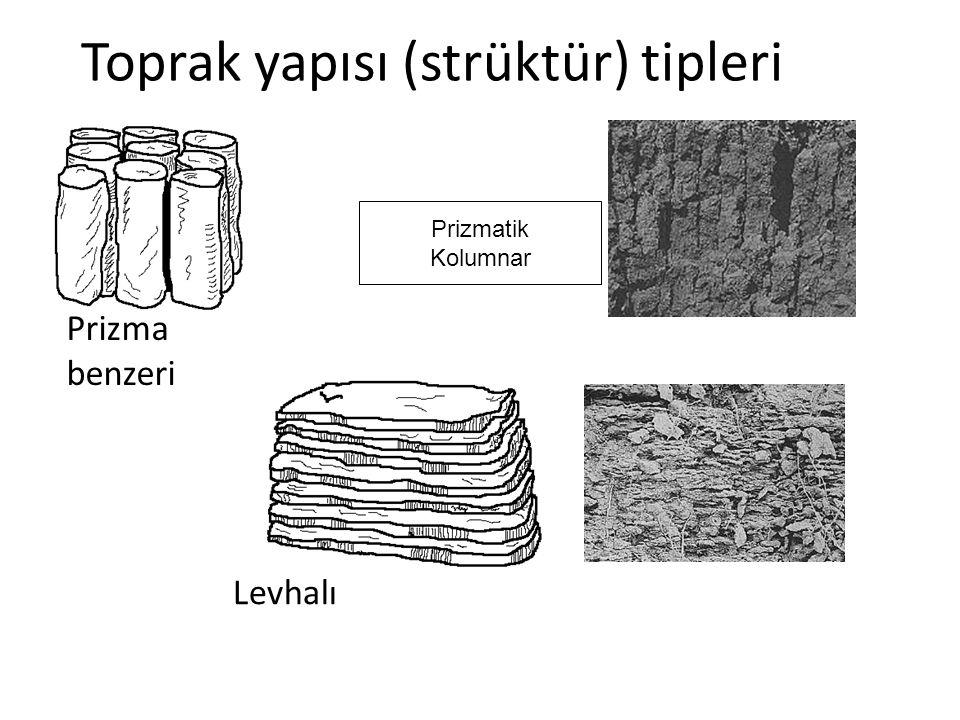 Toprak yapısı (strüktür) tipleri Prizma benzeri Levhalı Prizmatik Kolumnar