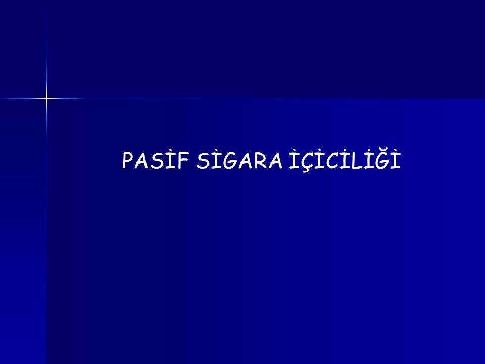 PASİF SİGARA İÇİCİLİĞİ