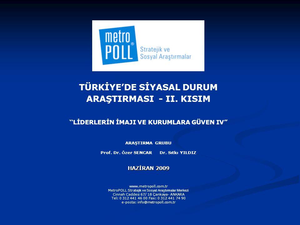 TÜRKİYE'DE SİYASAL DURUM ARAŞTIRMASI - II.