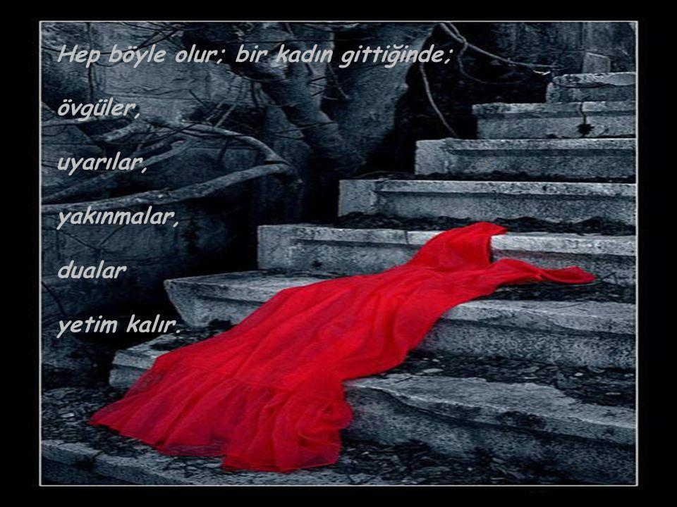 Bir kadın gittiğinde ne çok kişi gider aslında; Bir ağır işçi, bir temizlikçi, bir bakıcı, bir bahçıvan, bir muhasebeci...