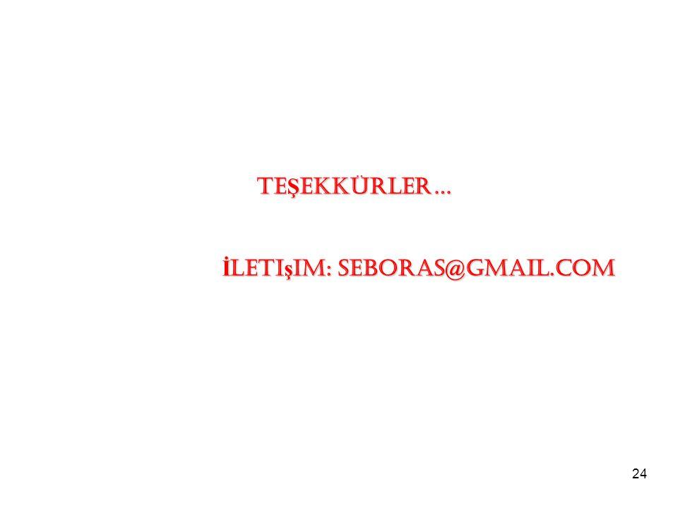 24 TE Ş EKKÜRLER… İ leti ş im: seboras@gmail.com