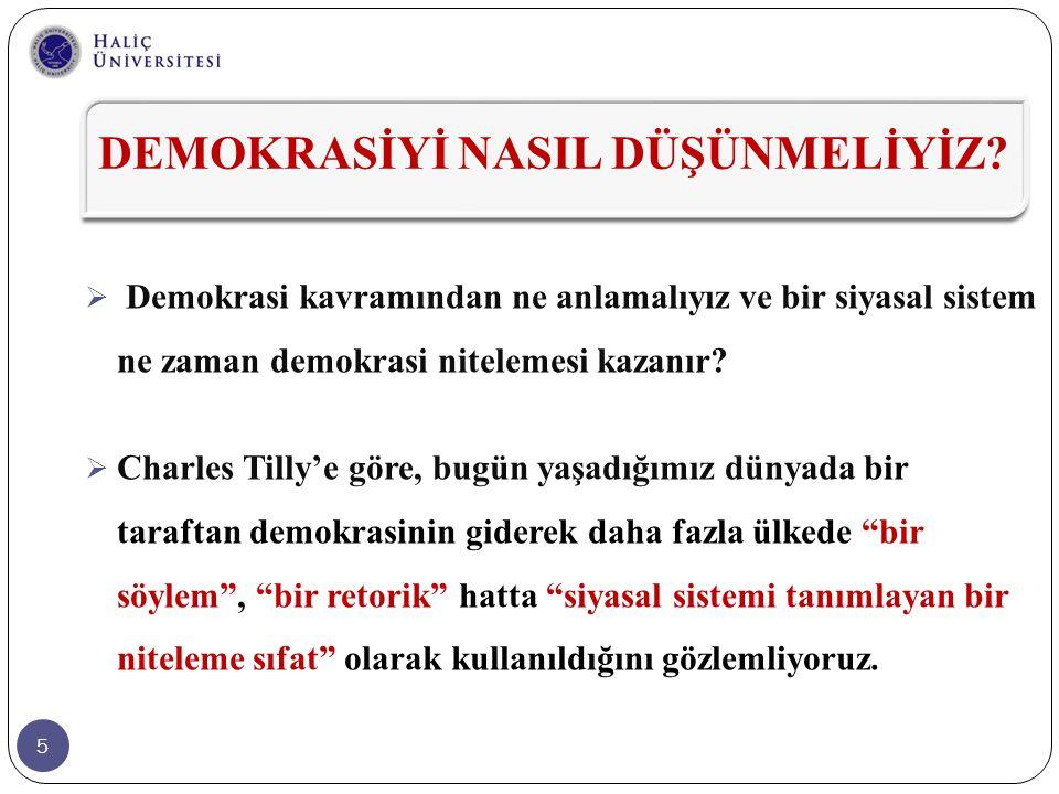 46 Beşincisi; AK Parti'nin bu konumu, son yıllarda; derinleşen siyasal ve toplumsal kutuplaşma, kurumlar- arası çatışma vb.