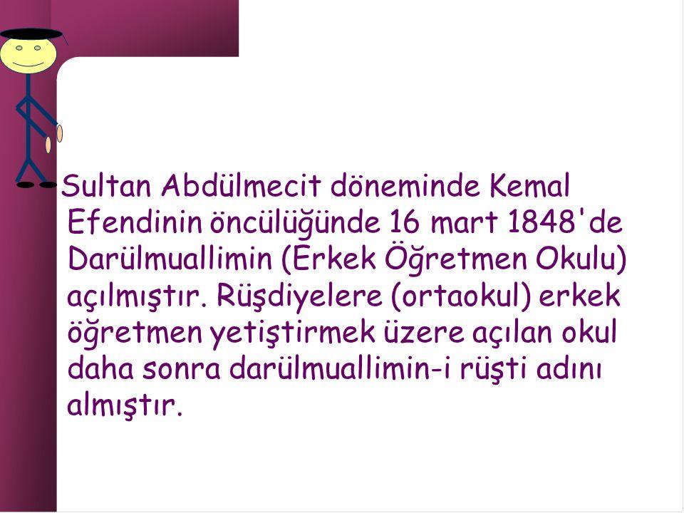 Selim Sabit Efendi (1829-1910 ) İlköğretim ve öğretmen eğitimi alanlarında, modernleştirme çalışmalarına öncülük yapmış önemli bir eğitimcimizdir.