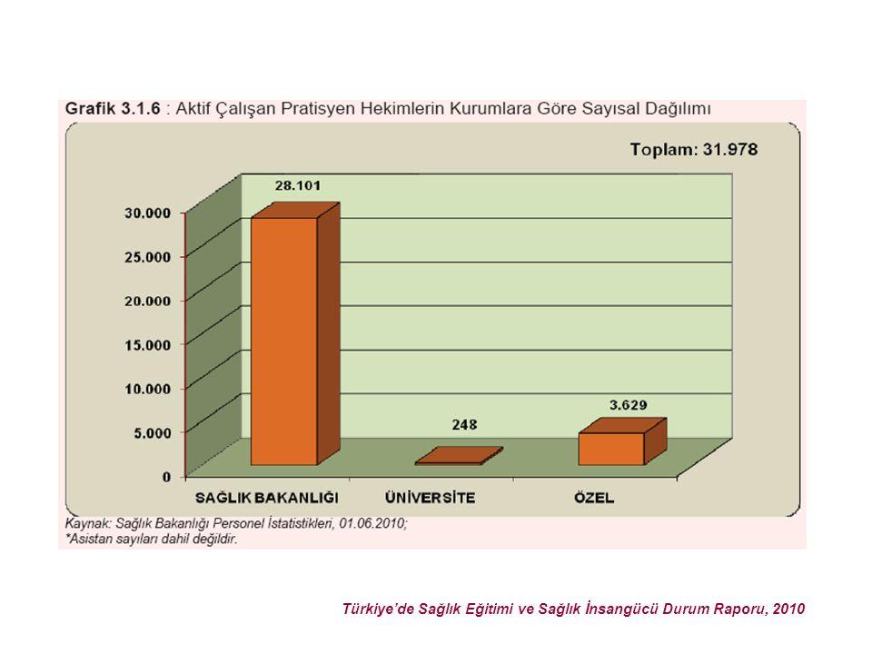 Türkiye'de Sağlık Eğitimi ve Sağlık İnsangücü Durum Raporu, 2010