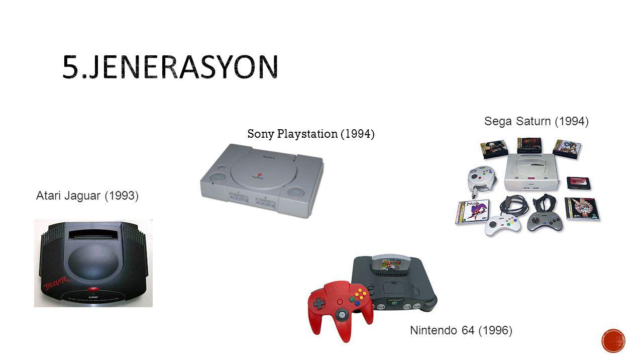 Nintendo 64 (1996) Sega Saturn (1994) Sony Playstation (1994) Atari Jaguar (1993)