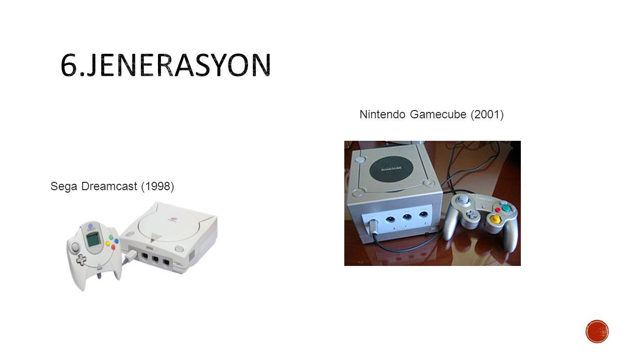 Sega Dreamcast (1998) Nintendo Gamecube (2001)
