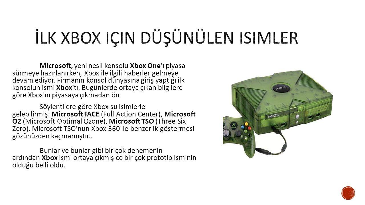 Microsoft, yeni nesil konsolu Xbox One ı piyasa sürmeye hazırlanırken, Xbox ile ilgili haberler gelmeye devam ediyor.