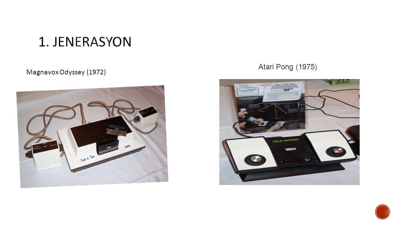 Atari Pong (1975) Magnavox Odyssey (1972)