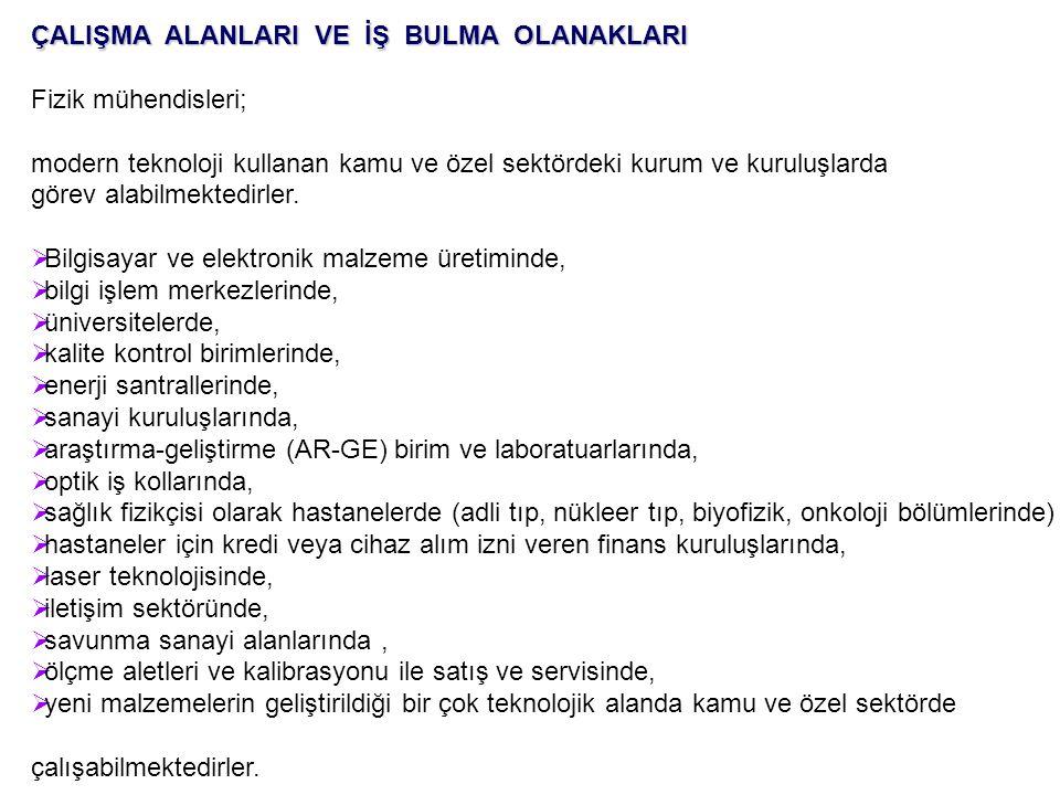 TürkiyeTürkiye de sadece dört üniversitede Fizik Mühendisliği eğitimi verilmektedir.