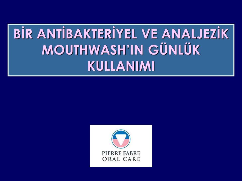 KLİNİK PARAMETRELER 0.10% klorheksidin diglukonat mouthwash'ın In vivo antibacteriyel etkisi J.P.I.O.