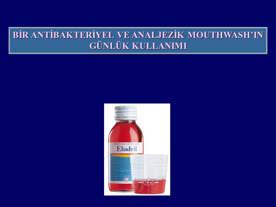 BAKTERİOLOJİK PARAMETRELER 0.10% klorheksidin diglukonat mouthwash'ın In vivo antibacteriyel etkisi J.P.I.O.