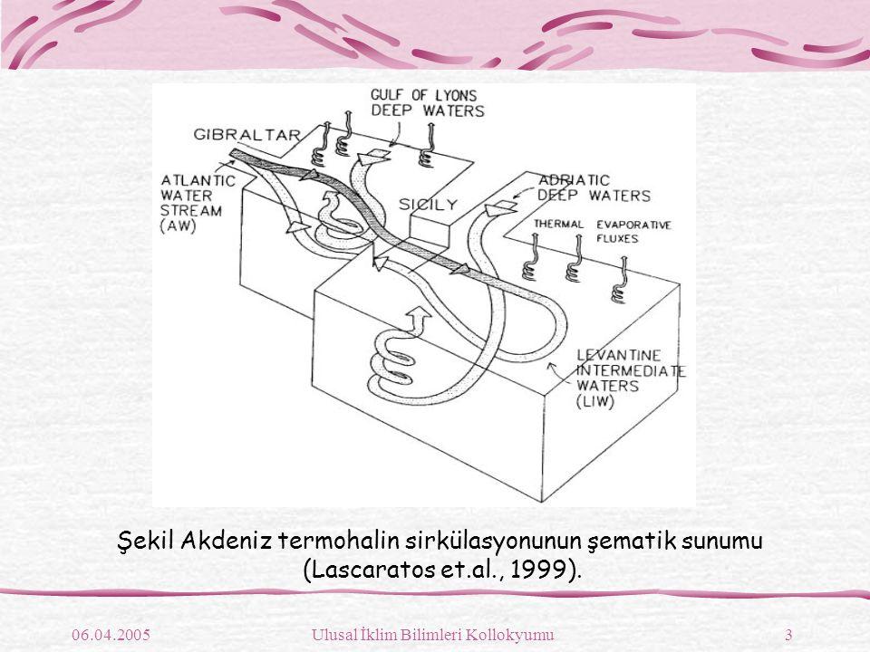 06.04.2005Ulusal İklim Bilimleri Kollokyumu4 Şekil Genel sirkülasyon şeması (Robinson ve diğ., 1991)