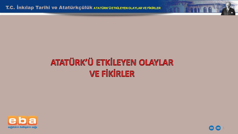 T.C. İnkılap Tarihi ve Atatürkçülük ATATÜRK'Ü ETKİLEYEN OLAYLAR VE FİKİRLER 1