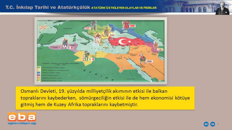T.C.İnkılap Tarihi ve Atatürkçülük ATATÜRK'Ü ETKİLEYEN OLAYLAR VE FİKİRLER 4 Osmanlı Devleti, 19.