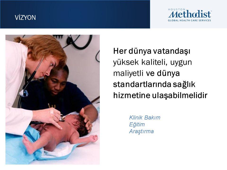 Her dünya vatandaşı yüksek kaliteli, uygun maliyetli ve dünya standartlarında sağlık hizmetine ulaşabilmelidir Klinik Bakım Eğitim Araştırma VİZYON