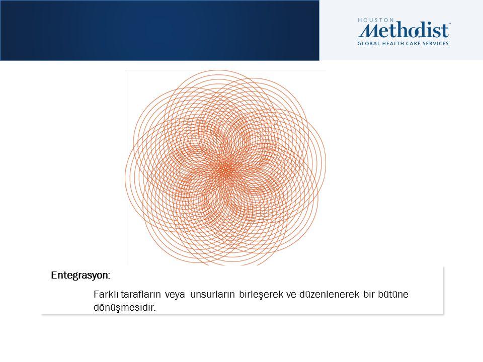 Entegrasyon: Farklı tarafların veya unsurların birleşerek ve düzenlenerek bir bütüne dönüşmesidir.