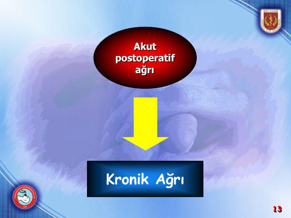 13 Kronik Ağrı Akut postoperatif ağrı