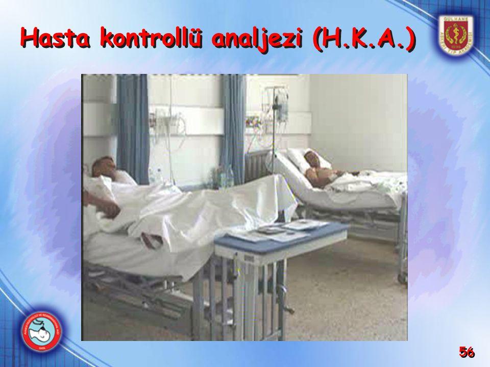 56 Hasta kontrollü analjezi (H.K.A.)