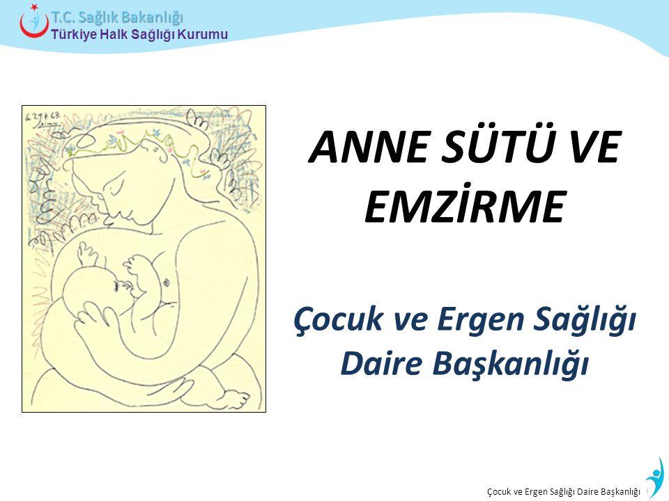 İstatistik ve Bilgi İşlem Daire Başkanlığı Türkiye Halk Sağlığı Kurumu T.C. Sağlık Bakanlığı Çocuk ve Ergen Sağlığı Daire Başkanlığı ANNE SÜTÜ VE EMZİ